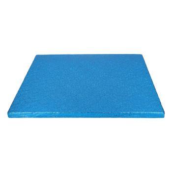 Semelle à gâteau carrée bleu 12mm 30.5cm