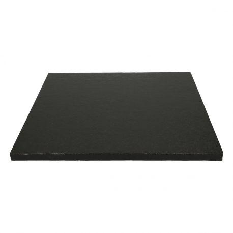 Semelle à gâteau carrée couleur noire très épaisse, idéal pour les gâteaux lourd.Dimensions : Ø30.5cm x épaisseur 12mm