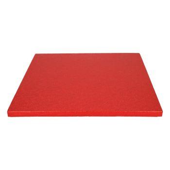Semelle à gâteau carrée rouge 12mm 30.5cm