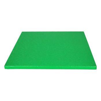 Semelle à gâteau carrée verte 12mm 30.5cm
