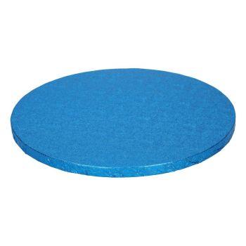 Semelle à gâteau ronde bleu 12mm 25cm