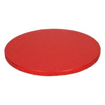 Semelle à gâteau ronde rouge 12mm 25cm