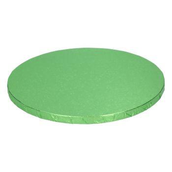 Semelle à gâteau ronde verte claire 12mm 25cm
