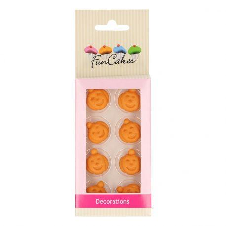 Avec ces décors en pâte à sucre sucre en forme de citrouille de chez FunCakes, c'est vraiment Halloween !Taille : env. 2.2...