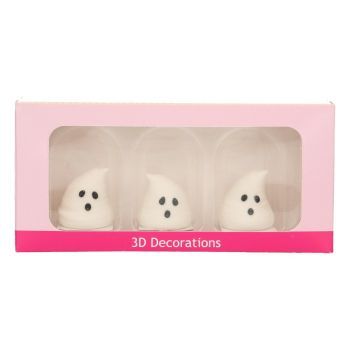 3 fantômes 3D en sucre Halloween