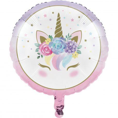 Ballon en aluminium décor Licorne baby pour la décoration de fête d'anniversaire de votre enfant sur le thème des LicorneA gonfler...
