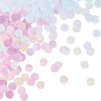 Confettis de table irisé
