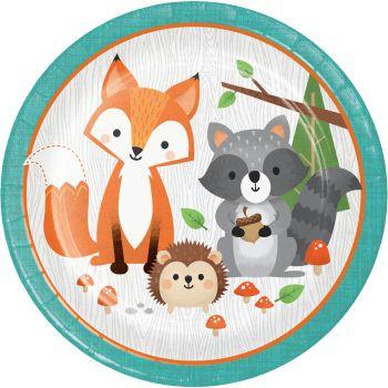 8 Assiettes animaux de la forêt