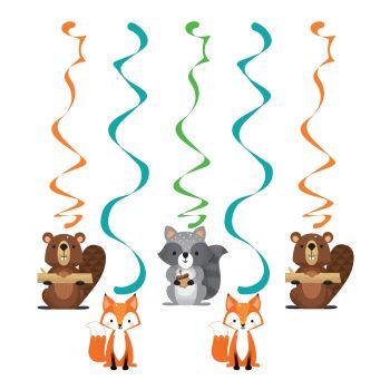 5 Suspensions animaux de la forêt