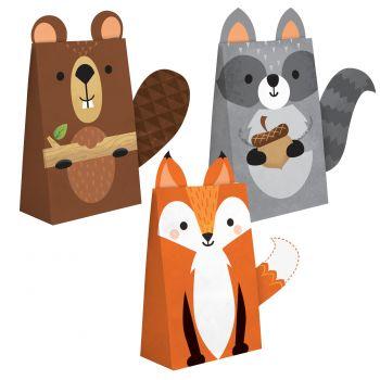 8 boites confiseries animaux de la forêt