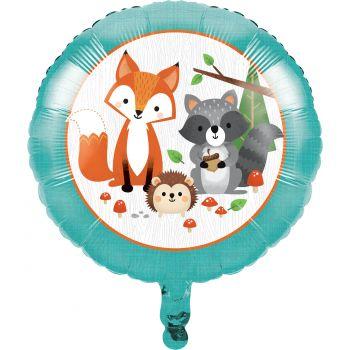 Ballon hélium animaux de la forêt