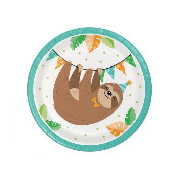 8 Petites assiettes paresseux party