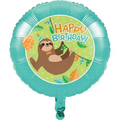 Ballon hélium paresseux party idéal pour une belle décoration de table d'anniversaire sur le thème de la jungle et de ses...