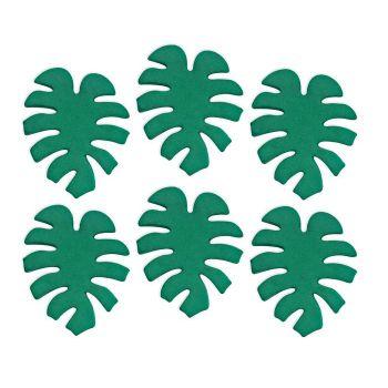 Mini figurines décors feuilles tropical en sucre