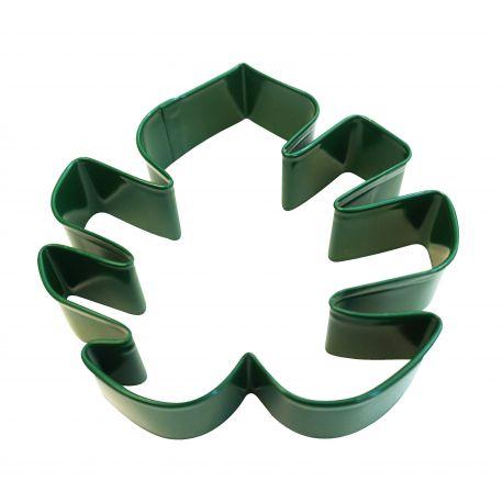 Emporte pièce en métal vert en forme de feuille tropicalediamètre : +/- 10cm