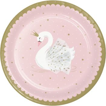 8 Assiettes Swan party