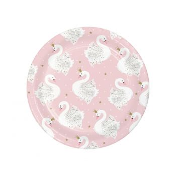 8 Petites assiettes Swan party