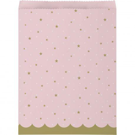 10 Sacs en papier Swan party idéal pour une belle décoration de table d'anniversaireDimensions: H22.5cm x 16.5cm