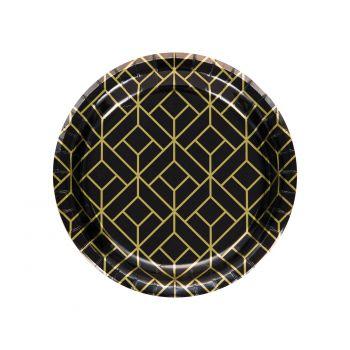 8 Petites assiettes Gatsby Art Deco