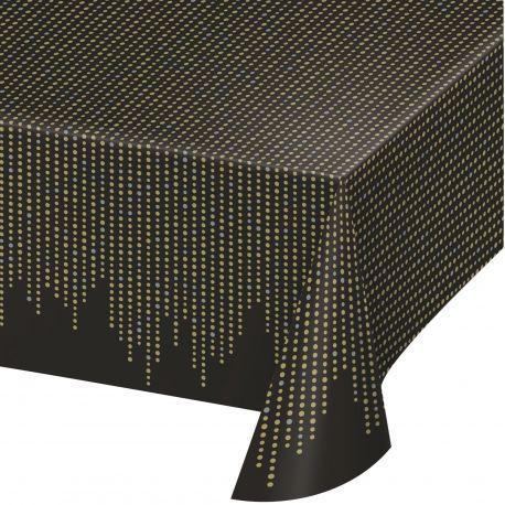 Nappe en plastique Gatsby idéal pour une belle décoration de table d'anniversaire thème année 20Dimensions: 260 cm x 140cm