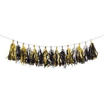 Guirlande de pompons métallisés Gatsby Année 20