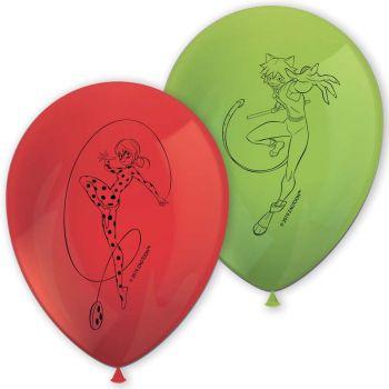 8 Ballons Ladybug Miraculous