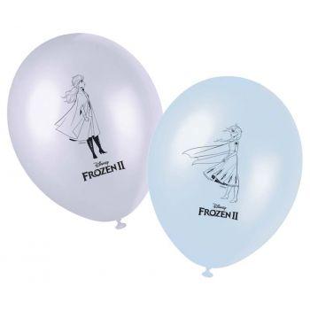 8 ballons Reine des Neiges II