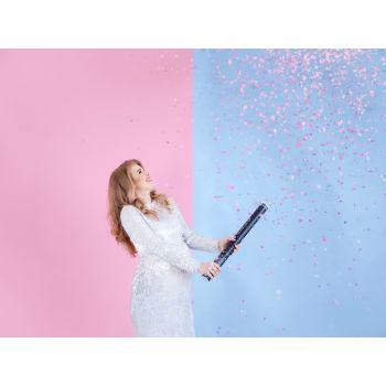 Canon à confettis gender rose