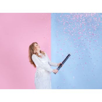 Canon à confettis rose
