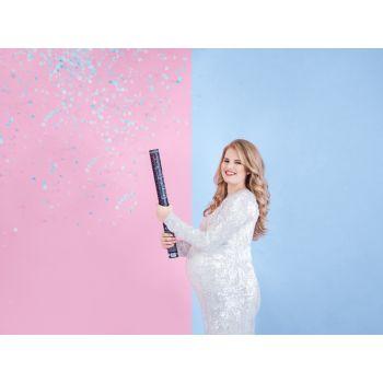 Canon à confettis bleu
