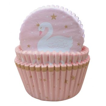 75 Caissettes cupcakes Swan