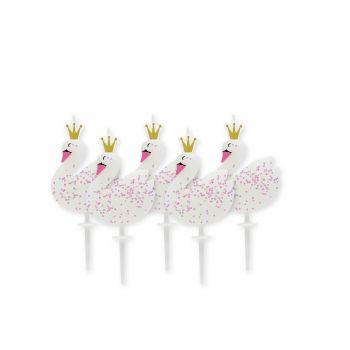5 Bougies pics Swan party