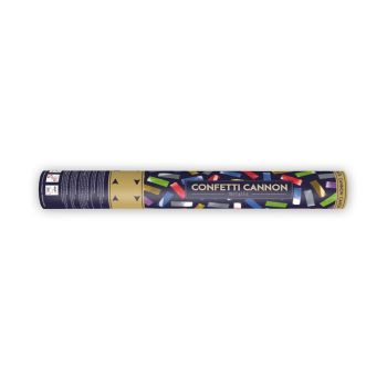 Canon à confettis multicolore métallisés