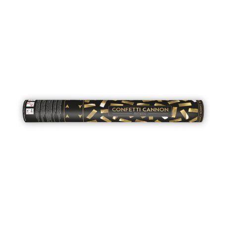 Canon à confettis rempli de confettis or métallisésLongueur 40cm