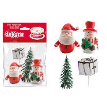 Kit 4 décors bûche Noël