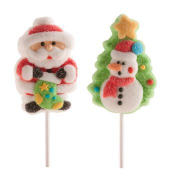 2 Brochettes de Marshmallow assortis Noël