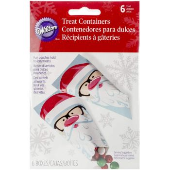 6 Box conique Père Noël lunette