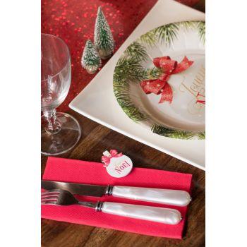 4 Mini pinces Boules de Noël rouge