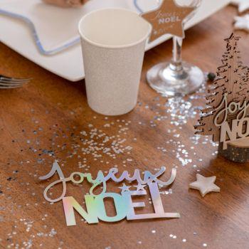 Lettres Joyeux Noël irisé
