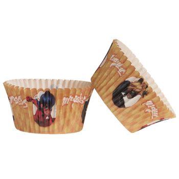 25 Caissettes cupcakes Miraculous