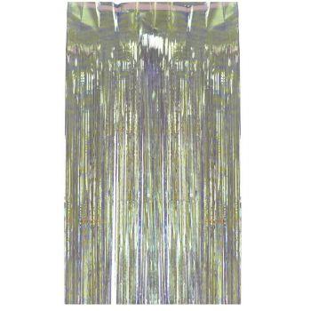 Rideau de franges irisé