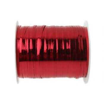 Bolduc métallisés rouge 25 mètres