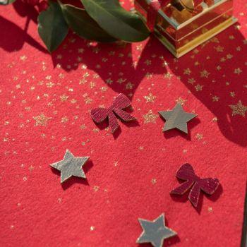 12 confettis en bois Cadeaux de Noël