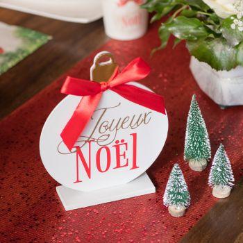 Décor à poser Boules de Noël rouge