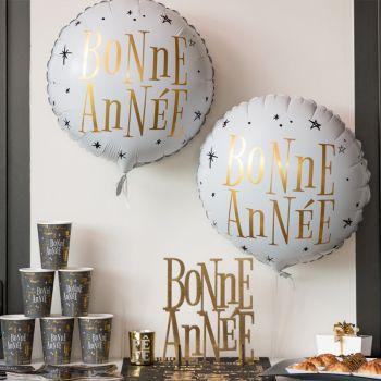 Ballon hélium Bonne Année or