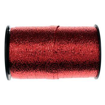 Bolduc gauffré métallisé rouge 25M