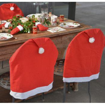 2 Housses de chaise bonnet de Noël