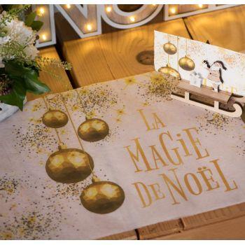 Chemin de table La Magie de Noël or