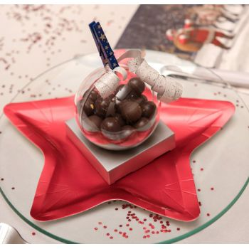 10 assiettes étoile rouge