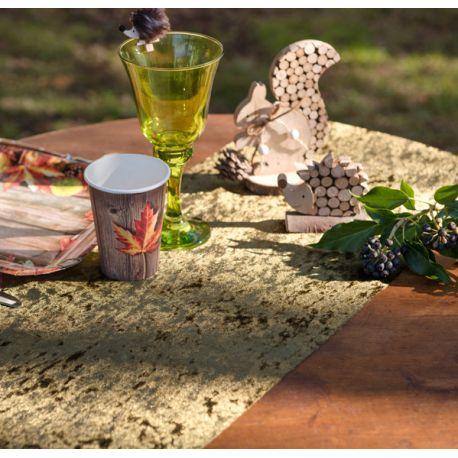 Chemin de table en velours kaki pour une belle décoration de table de NoëlMatière: en tissu non tissé polyesterDimensions : 27cm...